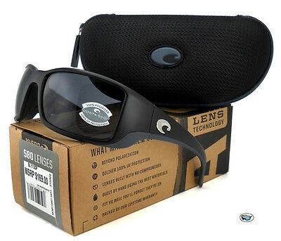 NEW Costa Del Mar BLACKFIN 580P POLARIZED Sunglasses | Matte Black / Grey Lens