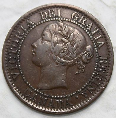 1859 Large Cent, Nice Grade, Die Break Through A Of Victoria