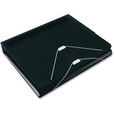 """Samsill Duo 2-in-1 Organizer - Binder + Expanding File-black - Letter - 8.50"""" X"""
