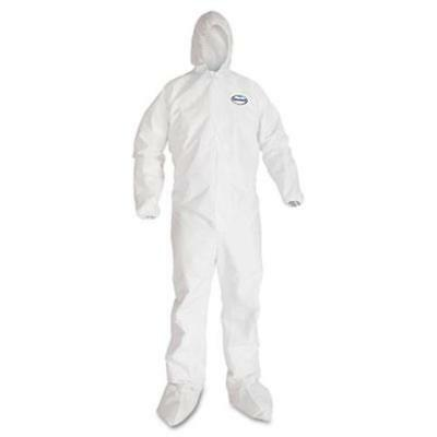 Kleenguard A40 Protection Coveralls - Extra Large - 25 / Carton - White (44334)