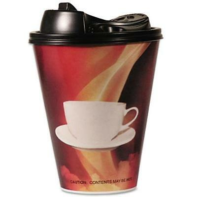 Boardwalk HCL20STE90 Paper Wrapped Foam Hot Cups, 20oz, Black & White, 90/carton
