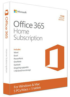 Microsoft Office 365 Home - Office Suite - 1 Year Box (6gq-00643) (6gq00643)