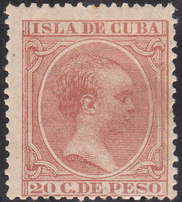 1890-97 Caribbean Stamps Sc 152 King Alfonso Spain  20c  NEW
