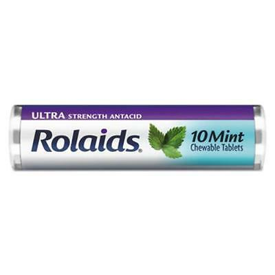 Lil Drugstore R10034 Ultra Strength Antacid Chewable Tablets, Mint, 10/roll, 12