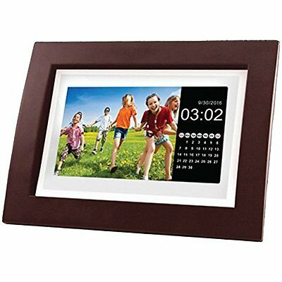 """Sylvania Sdpf1092 10""""-class Digital Photo Wooden Frame With Remote"""