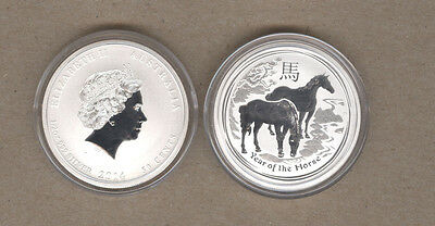 2014 Australia Lunar Series One Half Ounce Silver Year Of The Horse Coin
