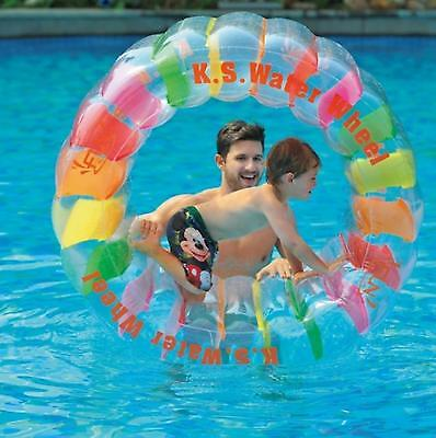 "Jilong - 49"" Multi-colored Inflatable Kid-ster Swimming Pool Water Wheel Float"