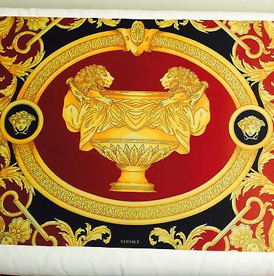Versace Medusa Plate Mat Placemat Dinner Table Bar Mat Barocco Lion Urn Vase New