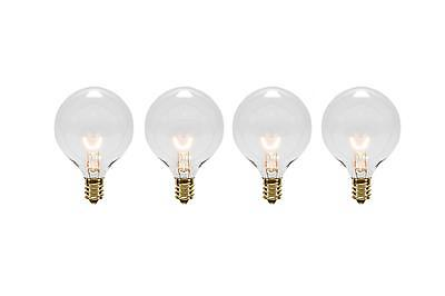 Sienna - Pack Of 4 Transparent Clear G40 Globe Christmas Replacement Light Bulbs