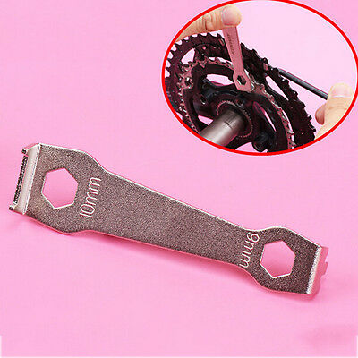 Bicycle Bike Crankset Bolt Fixed Wrench Repair Tool MTB Chain Wheel Spanner LAUS