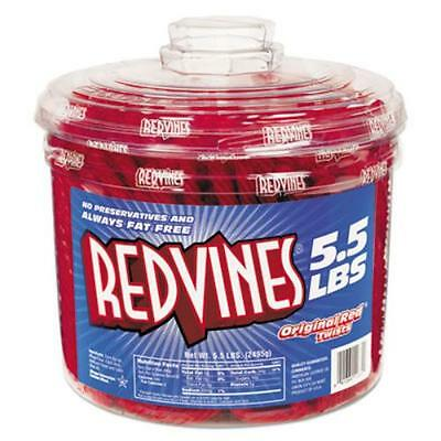 American Licorice Company 827495 Original Redtwists, 5.5 Tub