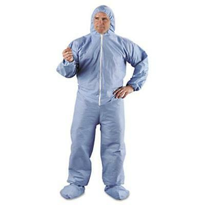 Kimberly-Clark 45355 Kleenguard A65 Hood & Boot Flame-resistant Coveralls, Blue,