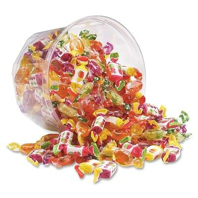 Office Snax Assorted European Fruit-filled Chews - Assorted - Resealable Tub,
