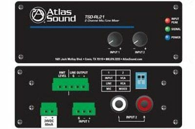Atlas Sound TSDRL21 2 Channel Mic Line Mixer