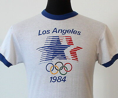RARE vintage 1984 US OLYMPICS soft thin T SHIRT 80s olympic