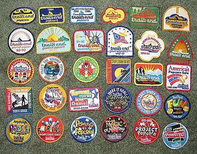 Lot of 30 Different Boy Scouts of America BSA Trail's End Trails End Patches