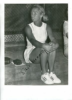 Vintage Autograph Photo  ETHEL KENNEDY in Tennis outfit widow Robert RFK SCARCE