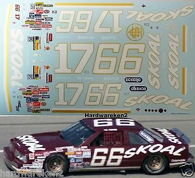 Nascar Decal #66 / #17 Skoal 1986 Oldsmobile Phil Parsons