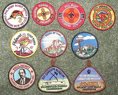 Lot of 10 Different Boy Scouts of America BSA Philmont Scout Ranch Patches #9