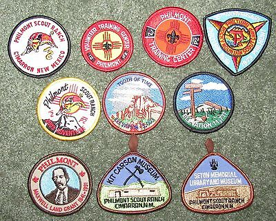 Lot of 10 Different Boy Scouts of America BSA Philmont Scout Ranch Patches #10