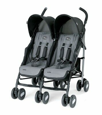 Chicco Echo Twin Stroller - Coal, Brand New!! Free Shipping!!