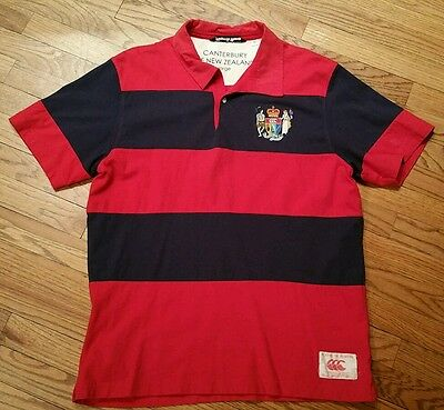 Canterbury Of New Zealand Rugby Polo Shirt Men's Large Played In Heaven/soccer