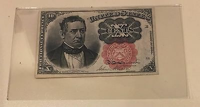 10 Cent Fractional Currency-Fr.1266 Very Fine-Fifth Issue 1874-1876-Plastic Case