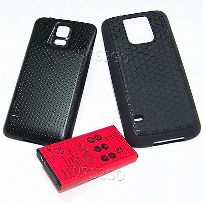 8900mAh Extended Battery Back Cover TPU Case For Samsung Galaxy S5 SM-G900A AT&T