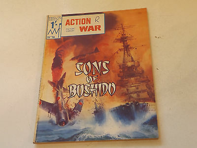 ACTION WAR PICTURE LIBRARY,NO 16,1966 ISSUE,GOOD FOR AGE,51 yrs old,RARE COMIC.