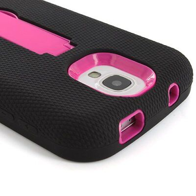 For Samsung Galaxy S4 S IV Shockproof Rugged Impact Hybrid Armor Stand Case