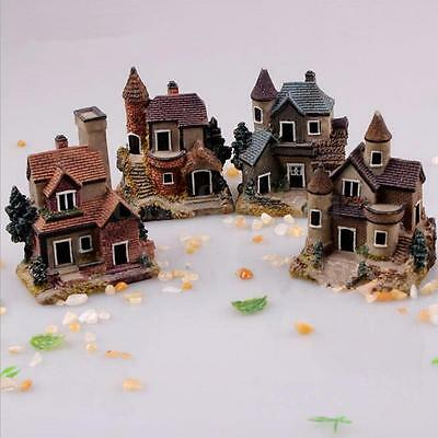 Fairy Garden Miniature Villa House Micro Landscape Ornament Decor Figurine Craft