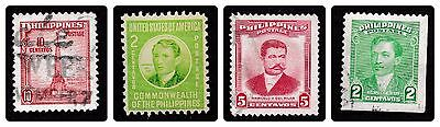 No 252A - 4 X Philippines Stamps - 2 X 2 Cent, 5 Cent & 10 Cent  - Used