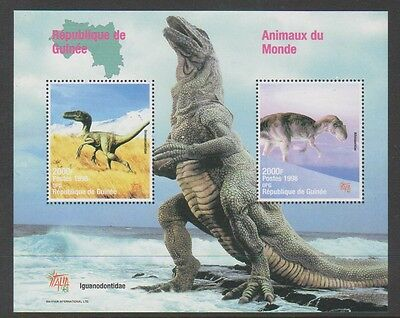 Guinea - 1998, Animals of the World - Dinosaurs sheet - MNH