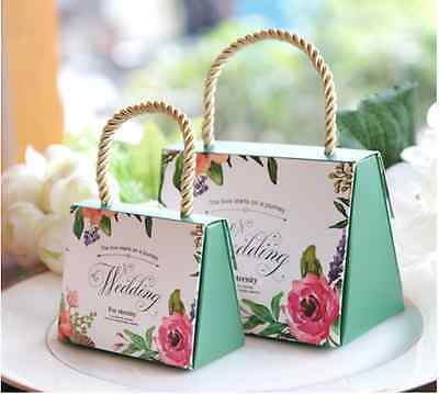 50pcs Wedding Boxes Favor Gift Candy Cake Boxes For Wedding Party Baby Shower