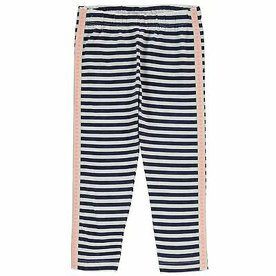 Crafted Kids Striped Leggings Pants Trousers Bottoms Girls Elasticated Waist