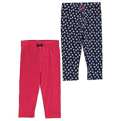 Crafted Kids Leggings Pants Trousers Bottoms Pack of 2 Infant Girls Floral