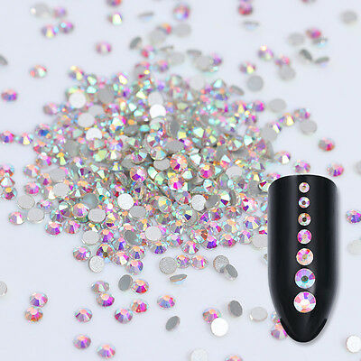 Flat Back Sharp 3D Rhinestones Colorful Nail Art Decoration Manicure Tips DIY