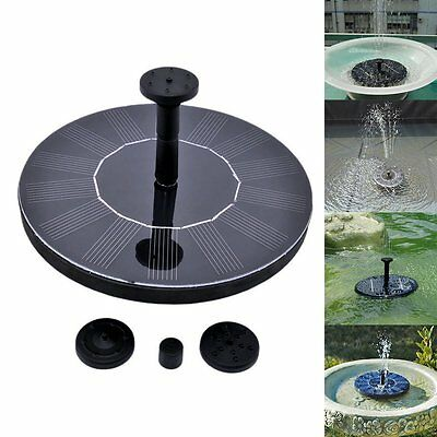 Solar Power Electric Fountain Pump Floating Panel Pool Garden Plants Pond Water