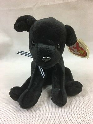 Luke Ty Beanie Baby Rare Retired 90s Toy Collectable Teddy Black Dog Vintage TAG