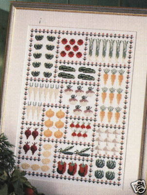 Vegetable Garden Cross Stitch Chart