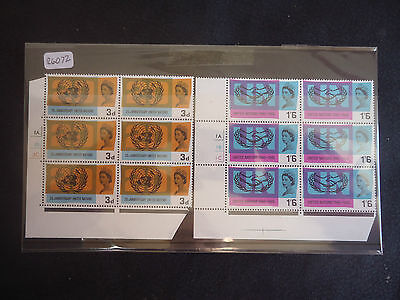 Great Britain 1965 United Nations (ORD) (Cylinder Blocks 6) MNH