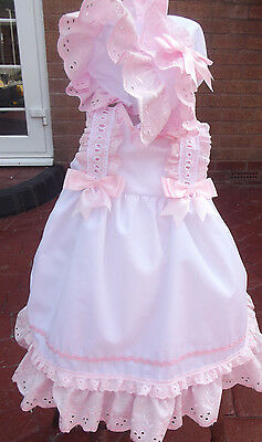 Dream Baby Girls 0-6 Months Spanish Lined Dress Bonnet  Or  Reborn Dolls