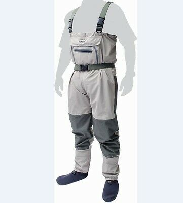 Superb New Leeda Volare Stocking Foot Breathable Chest Waders - All Sizes