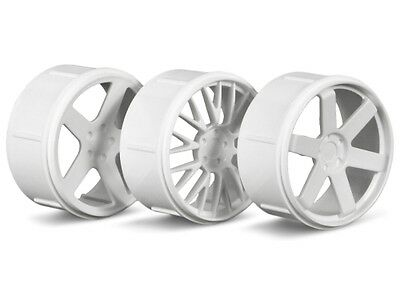 HPI Wheel Set (white/micro Rs4) #73410