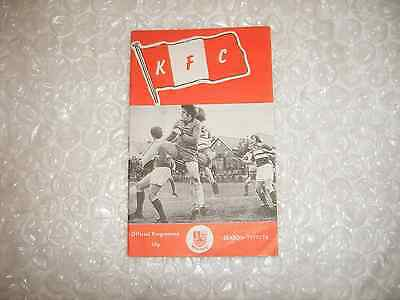 Kingstonian v Woking  Tuesday 30th August 1977 IL