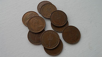 half penny pence 1/2p x 10 coins mix of years