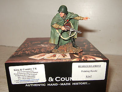 Rare King and Country RA67 Russian Front, Russian Pointing in 1:30  Scale.