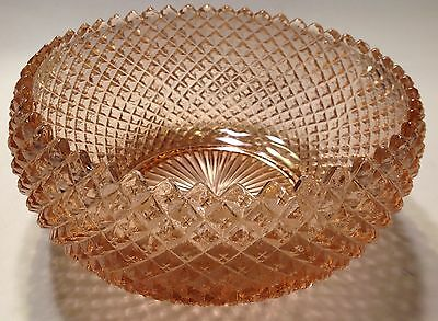 Pink Depression Glass  Miss America Curved In At Top Bowl