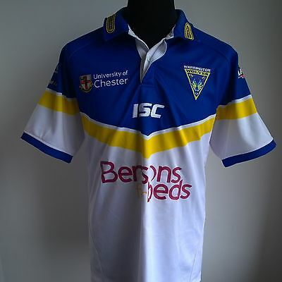 Warrington Wolves 2012 Home Football Shirt Isc Jersey Size Adult Xl