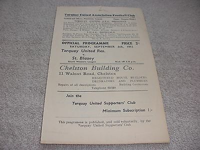 Torquay United Res. v St. Blazey  6/9/52.  South Western League.